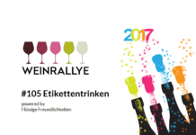 Weinrallye # 105: # Etikettentrinken