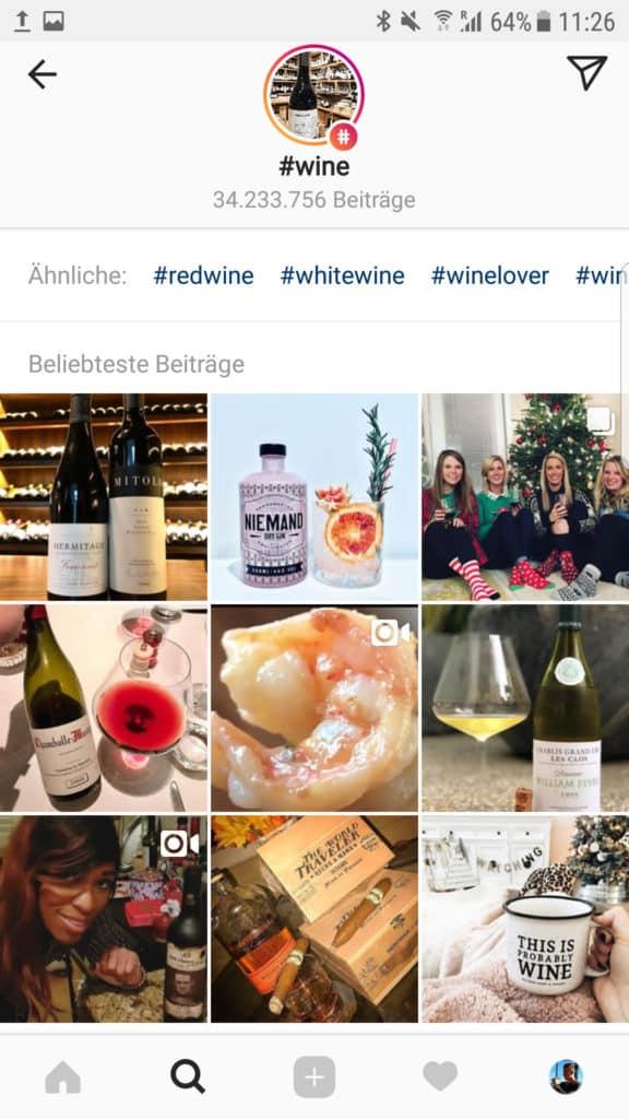 Instagram Wein Blogger