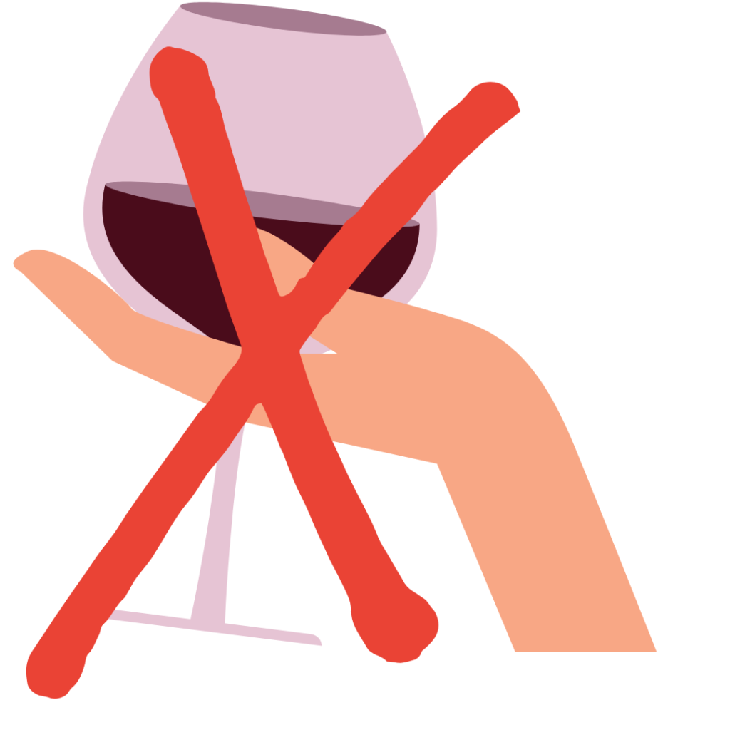 Weinglas richtig greifen