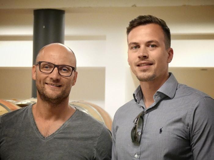 Wein Blogger Daniel Bayer und Horst Gager