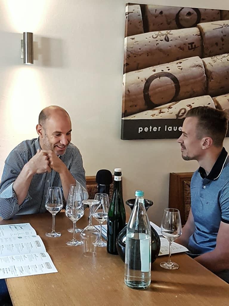 Florian Lauer und Daniel Bayer im Gespräch