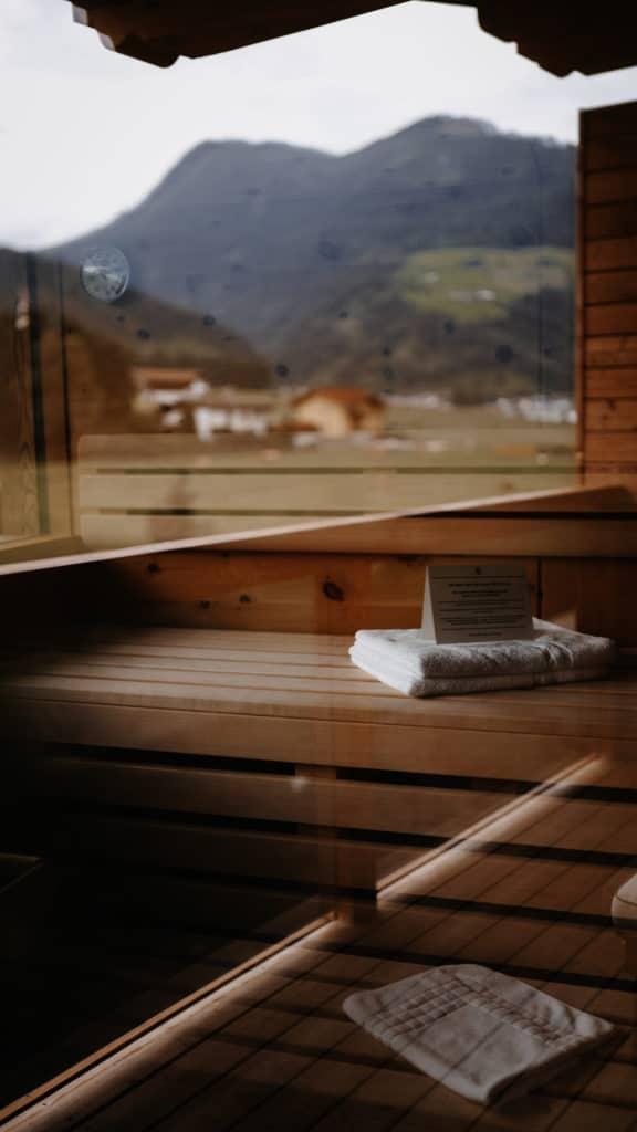 Panoramaglas-Sauna